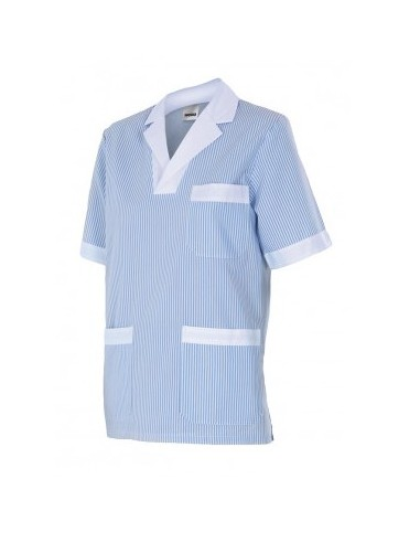 Camisola pijama a rayas manga corta...