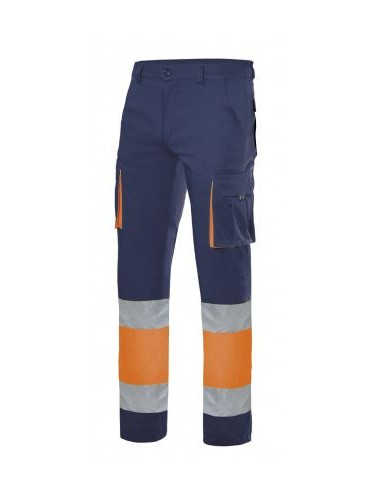 Pantalón stretch bicolor...