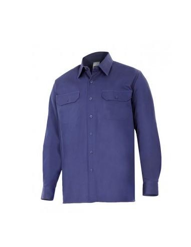 Camisa 100% algodón manga larga VELILLA