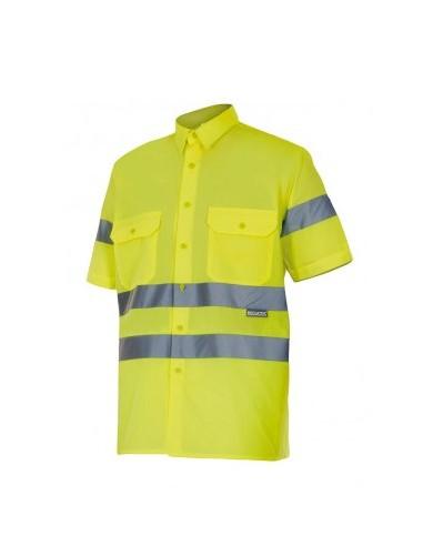 Camisa manga corta alta visibilidad...